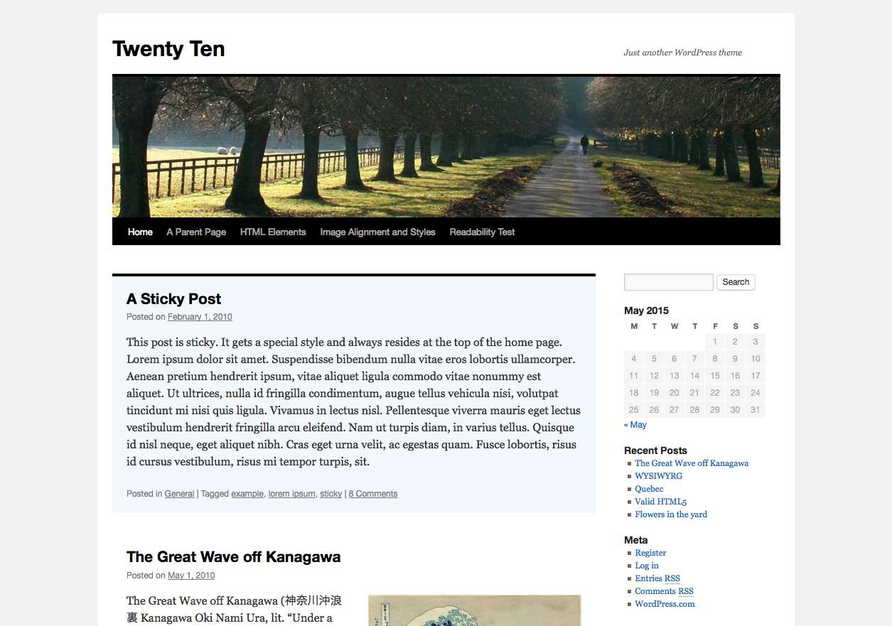 WordPress 2010 theme